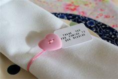 Button Heart Napkin Ties - Creative and Contemporary