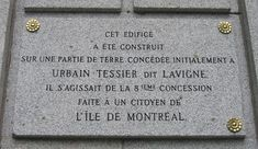 Urbain Tessier dit Lavigne plaque in Montreal