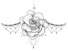 Chest Tattoo Female Upper, Chest Tattoos For Women, Tattoos For Women Small, Small Tattoos, Finger Tattoos, Cute Tattoos, Body Art Tattoos, Sleeve Tattoos, Mandala Sternum Tattoo