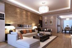 Sala moderna en madera