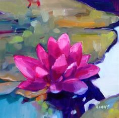 """Daily+Paintworks+-+""""Floating""""+-+Original+Fine+Art+for+Sale+-+©+Libby+Anderson"""