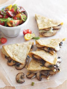 Mushroom and Manchego Quesadillas