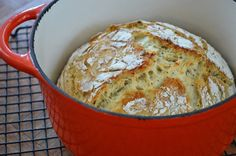 The Art of Comfort Baking: Dutch Oven No-Knead Crusty Bread #easy #baking #bread #recipe