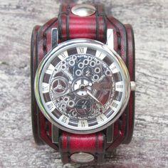 Vintage Red Ladies Watch Woman Watches Watch by loversbracelets Vintage Móda 181d96fe2d8