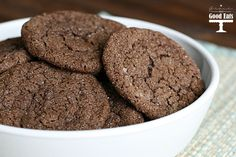 Chewy Chocolate Cookies- perfectly crisp edges with a chewy center