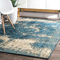 Trent Austin Design Montross Blue Area Rug Rug Size: Rectangle x Rugs Usa, Buy Rugs, Round Rugs, Contemporary Rugs, All Modern, Modern Coastal, Rustic Modern, Modern Decor, Decoration