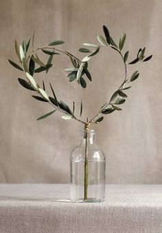 Olive Leaf Heart Centerpiece Knock Knock Who's There? Olive Who? Olive You. Wedding Centerpieces, Wedding Table, Wedding Decorations, Wedding Rustic, Tree Wedding, Wedding Heart Wreath, Sweet Heart Table Wedding, Table Decorations, Wedding Country