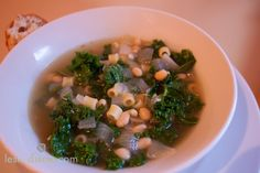 Tuscan Kale & White Bean Soup (V) and make it (GF) with gf pasta