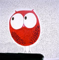 'The Owl' by Papergirl Owl Activities, Owl Artwork, Owl Kids, Owl Wallpaper, Red Owl, Whimsical Owl, Owl Illustration, Paper Owls, Owl Pictures