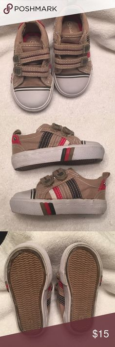Cute as can be baby shoes Adorable velcro shoes. Boys slide on.  Worn couple times Koala Kids Shoes Sneakers