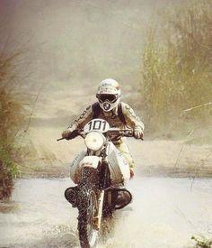 Gaston Rahier, BMW, Dakar Rally 1984.