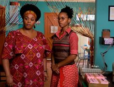The set design on HBO's short-lived No. 1 Ladies' Detective Agency series is amazing.  I love love love the colors, especially the teal walls of the agency and Precious Ramotswe's green kitchen cabinets.
