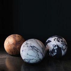 Marble Poufs by Cerruti Baleri