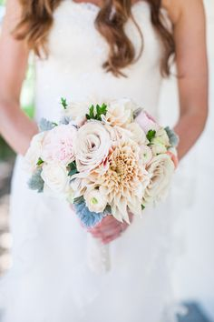 This California Wedding Is Too Pretty Not To See from Kate Webber - bridal bouquet