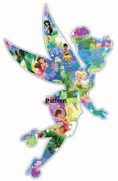 New Tinkerbell. Counted Cross Stitch Pattern. PDF Files. Free shipping.