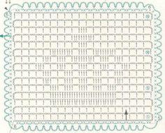 Crochet filet crown chart
