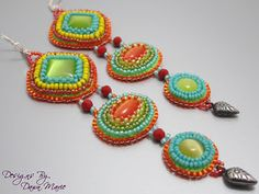 OOAK Long Dangle Earrings made as custom order