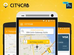 Celebrate the festive seasons with CityCab #taxibooking app designed by Peerbits https://dribbble.com/shots/3169093-Download-free-Uber-like-taxi-app-UI-PSD-upto-Christmas