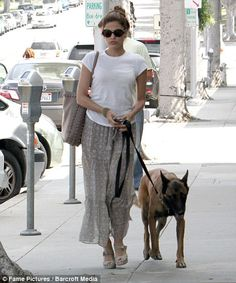 Celebrity GSD - Eva Mendes with Hugo