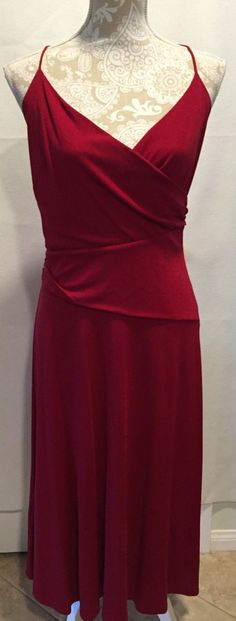 Ann Taylor Loft Women's Red Rayon/Polyester Sleeveless Career Work Dress Size 10 #AnnTaylorLoft