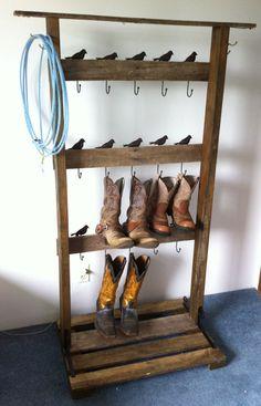Cowboy boot rack Western Homes c7cf2b0bfc5a