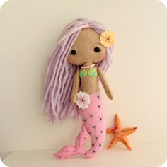 Gingermelon mermaid doll