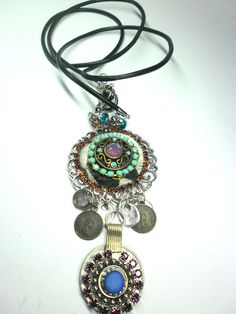 Shabby necklace ~ handmade by Ooak BijouX Sold!