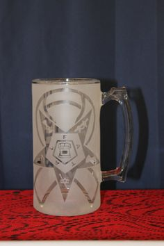 Order of the Eastern Star ribbon Frosted Mug by OlsenEnterprises, $25.00