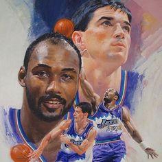 0cbe24af Utah Jazz | Karl Malone and Jerry Stockton Basketball Shooting Drills, Jazz  Basketball, Olympic