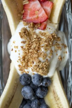 Bananas, Blueberries, Strawberries, Greek Yogurt www.shackstl.com @TheShack_STL on Instagram