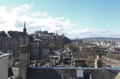 View of Edinburgh Castle from The Penthouse at The Scotsman Hotel