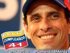 DALE LAS FELICITACIONES A HENRIQUE CAPRILES EN SU CUMPLEAÑOS por TWITTER:  @Henrique Capriles Radonski HT: #CaprilesTv  #VenezuelaSomosTodos