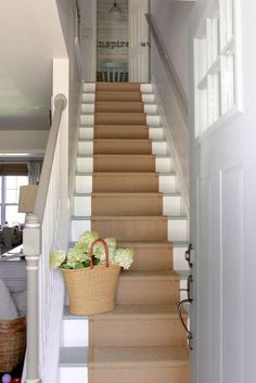 Ruthless Stair Runner Carpet Diy Stairways Strategies Exploited In case you've got carpet in your own stairs, plus it's looking dingy, you can attemp. Carpet Diy, Carpet Ideas, Cheap Carpet, Sisal Carpet, Beige Carpet, Red Carpet, Br House, Cottage House, Staircase Runner