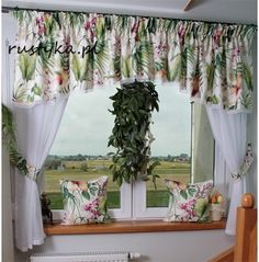 Shabby Chic Kitchen Curtains, Kitchen Window Curtains, Romantic Shabby Chic, Drapes Curtains, Window Coverings, Door Design, Cottage Style, Decoration, Beautiful Homes