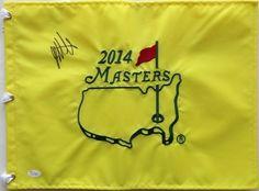 Bubba Watson Signed 2014 Masters Golf Flag JSA L21789