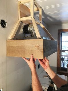 Kitchen Makeover DIY Vent Hood new floors, counters and sink: Cottage House Flip Episode 9 Kitchen Redo, Rustic Kitchen, Kitchen Ideas, How To Build Kitchen Island, Country Kitchen, How To Build Cabinets, Building Kitchen Cabinets, Diy Kitchen Island, Diy Kitchen Cabinets