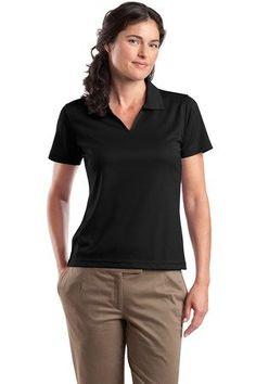 Sport-Tek Ladies Short Sleeve 100% Polyester Moisture Wicking Polo V Neck Sport Shirt $13.99 (77% OFF)
