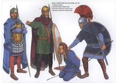 1: Alaman warrior This reconstruction follows the rich graves of the Rhine border and the descriptions of the ancient authors. Ammianus describes long, thick hair dyed red with natural substances. …