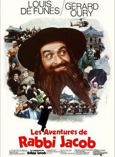 French dvd movie cover image for Les aventures de Rabbi Jacob The image measures 1002 * 1403 pixels and is 692 kilobytes large. All Movies, Series Movies, I Movie, Tv Series, Cinema Posters, Film Posters, Films Cinema, Grey's Anatomy, Rabbi Jacob