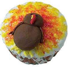 Our Fine Feathered Friends Cupcakes - These festive turkeys are ready for their big day. Cake Sparkles dress up these birds on Our Fine Feathered Friends Cupcakes.