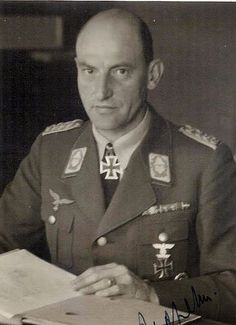 General der Flakartillerie Walther Moritz Heinrich Wolfgang von Axthelm (23 December 1893 – 6 January 1972) Knight's Cross of the Iron Cross on 4 September 1941 as Generalmajor and commander of the I. Flak-Korps