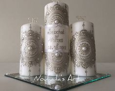 Personalized candles set