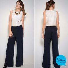 Nova Pantalona Belize, feita em viscose premium. Chic e atemporal! Mais detalhes no nosso site! ;-)#mybasiclook #calçabelize