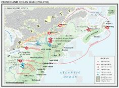 French and Indian War Map American Revolutionary War, American War, American History, American Indians, Canadian History, Us History, Family History, Mississippi, British America