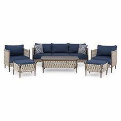 Garden Sofa Sets You'll Love | Wayfair.co.uk Outdoor Dining, Outdoor Sofa, Outdoor Furniture, Outdoor Decor, Rattan Corner Sofa, Rattan Sofa, Garden Sofa Set, 5 Seater Sofa, Lounge