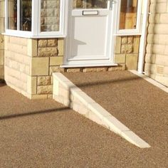 Our range of residential resin bound paving products are ideal for domestic use. Transform your driveway, patio, pathway & swimming pool today. Driveway Ramp, Permeable Driveway, Resin Driveway, Driveways, Bungalow Exterior, Garden Paving, Garden Toys, Pathways, Garden Furniture