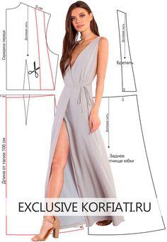Выкройка платья с V-образным вырезом