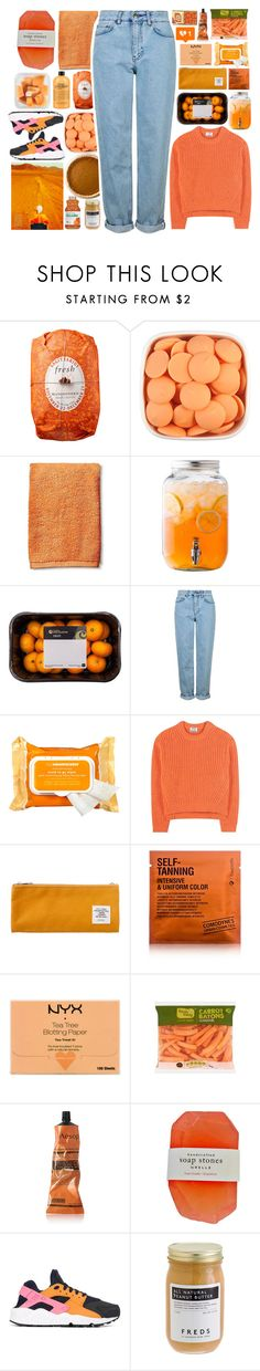 """""""IT'S THE FEELING OF NOT KNOWING"""" by effervescents ❤ liked on Polyvore featuring Fresh, Room Essentials, Topshop, Ole Henriksen, Acne Studios, Sweet Bella, Comodynes, NYX, Aesop and NIKE"""