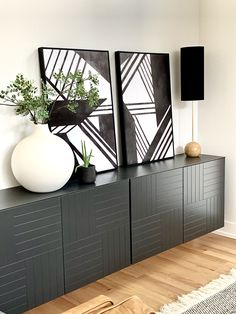diy Dining room hutch Floating Sideboard using Besta Cabinets Room, Ikea Floating Cabinet, Sideboards Living Room, Interior, Dining Room Buffet, Dinning Room Decor, Home Decor, Ikea Hack Living Room, Ikea Dining