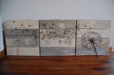 wooden headboards diy | ... slab of wood or several drawing your own silhouettes atop a fresh wood